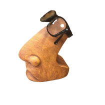 Ahşap Gözlük Tutucu Yüz Şeklinde Gözlük Stant