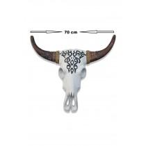 Ahşap Bufalo Kafası Duvar Süsü Ahşap Buffalo
