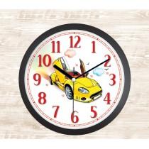 30 Cm Araba Temalı Çocuk Duvar Saati Çocuk Odası Saat