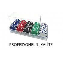 100 Lü Poker Fişi 100 Adet Poker Fişi Poker Pulları