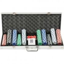 500 Chip Çantalı Poker Fişi Poker Kağıdı 500 Lük Poker Fişi