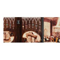 Eser Polyester Büyük Boy Tavla Saliha Kadın 2 Adet Yedek Zar Hediye