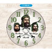 35 Cm Bombe Camlı Yuvarlak Duvar Saati Zülfikar Saat