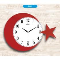 42 Cm Ay Yıldız Duvar Saati Dekoratif Duvar Saati