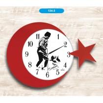 42 Cm Atatürk İmzalı Duvar Saati Dekoratif Duvar Saati