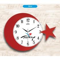 42 Cm Türkiye  Duvar Saati Dekoratif Duvar Saati