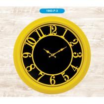 Galaxy 46 Cm Renkli Duvar Saati Yuvarlak Sarı Duvar Saati