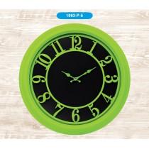 Galaxy 46 Cm Renkli Duvar Saati Yuvarlak Yeşil Duvar Saati