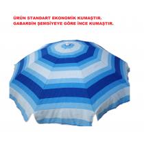 2 mt (EKONOMİK SERİ KUMAŞ) Eğilebilir Plaj Şemsiyesi BİDON DAHİL