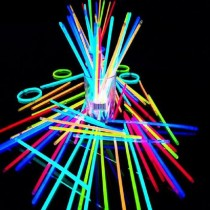 100 Adet Fosforlu Çubuk Glow Stick Fosforlu Bileklik Neon Işık