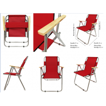 4 Adet Katlanır Sandalye + 2 Mt Gabardin Plaj Şemsiyesi Yeşil