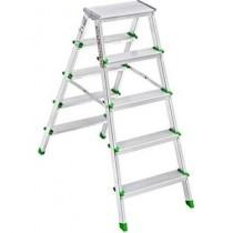 Saraylı Çift Çıkışlı Alüminyum Merdiven 5+5 basamak