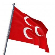 Kırmızı ÜçHilal Bayrağı 70x105 cm