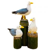 3'lü Martı Marin Martı Biblosu Martı Kuş Biblo