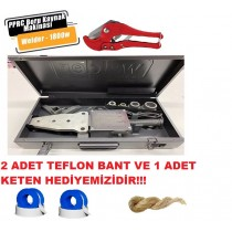 Welder 1800 W Makaslı PPRC Plastik Boru Kaynak Makinesi Hediyeli!!