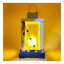 26 X 10 Cm Deniz Feneri Mumluk Ahşap Deniz Feneri Işık Fener