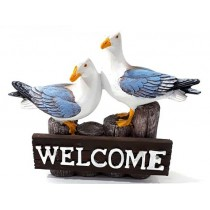17 cm Dekoratif Polyester Martı Welcome Biblo