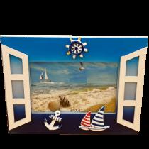 22 cm Pencereli Yatay Çerçeve Restim Çerçevesi Albüm